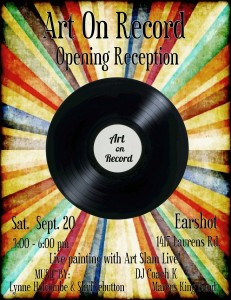 art on record flyer gville